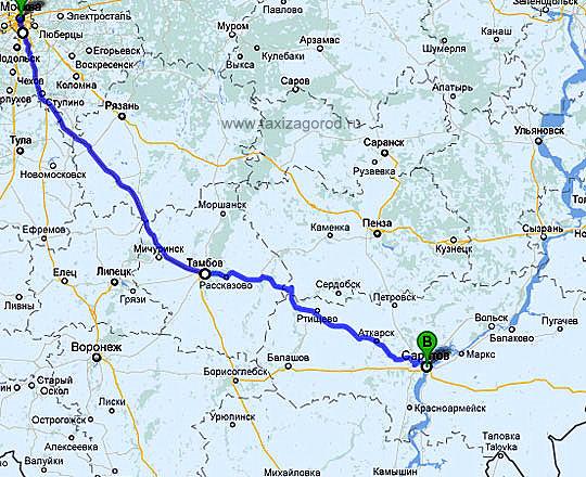 Карты маршрутов №1 и №2