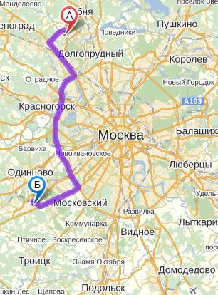 Шереметьево Внуково, карта с